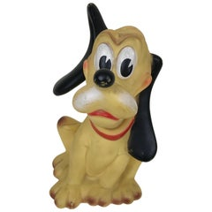 1960s Vintage Original Disney Pluto Rubber Squeak Toy Made in Italy Ledraplastic