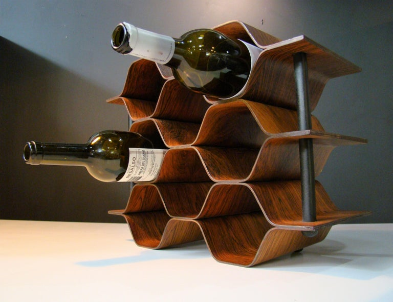 1960's Vintage Rosewood Wine Rack by Torsten Johansson for AB Formtra 'Sweden' For Sale 4