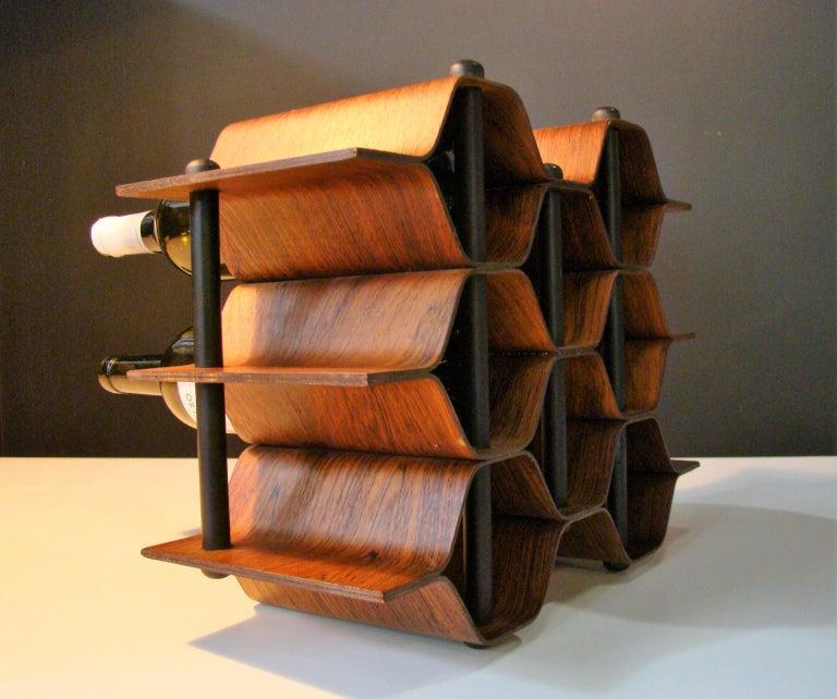 Mid-Century Modern 1960's Vintage Rosewood Wine Rack by Torsten Johansson for AB Formtra 'Sweden' For Sale
