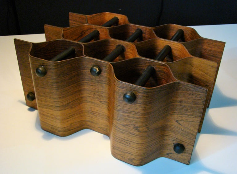 20th Century 1960's Vintage Rosewood Wine Rack by Torsten Johansson for AB Formtra 'Sweden' For Sale