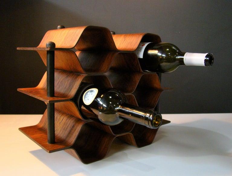 1960's Vintage Rosewood Wine Rack by Torsten Johansson for AB Formtra 'Sweden' For Sale 1
