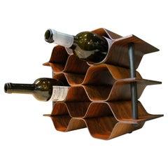 1960's Vintage Rosewood Wine Rack by Torsten Johansson for AB Formtra 'Sweden'
