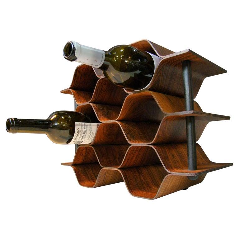 1960's Vintage Rosewood Wine Rack by Torsten Johansson for AB Formtra 'Sweden' For Sale