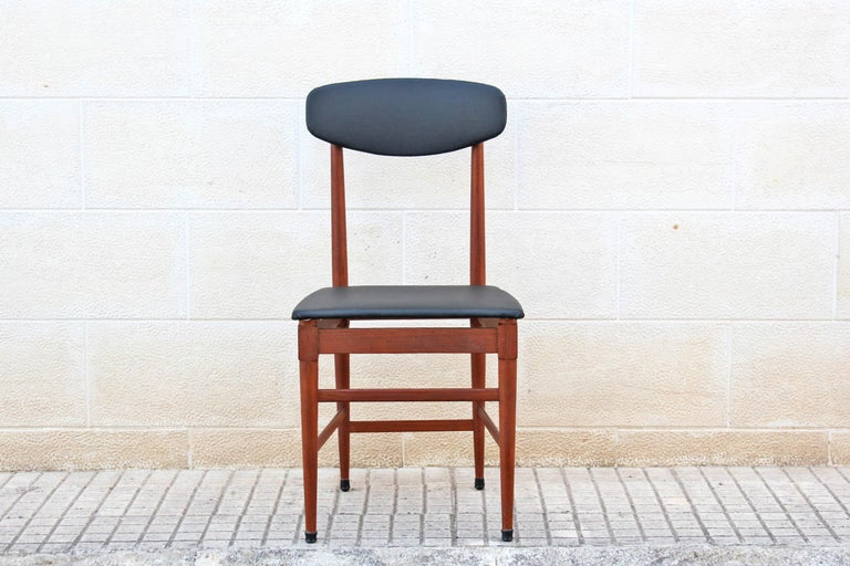 Mid-20th Century 1960s Vintage Scandinavian Dining Chairs, Set of Four For Sale