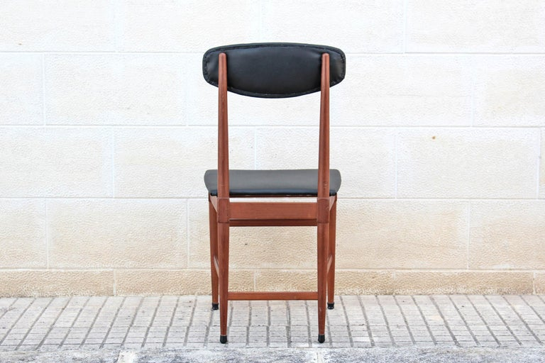 1960s Vintage Scandinavian Dining Chairs, Set of Four For Sale 2