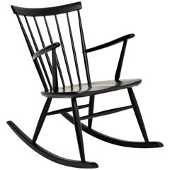 1960s Vintage Swedish Rocking Chair by Roland Rainer