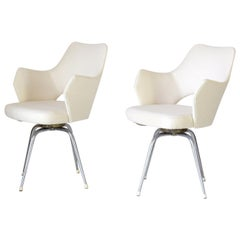 1960s Vintage Swivel  Lounge Chairs, Set of Two