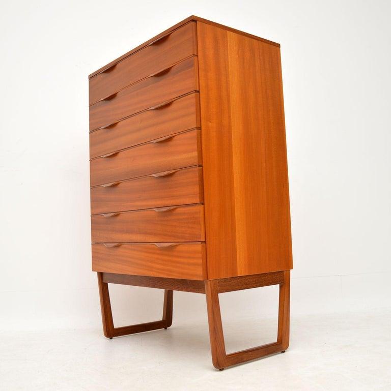 Mid-Century Modern 1960s Vintage Teak Chest of Drawers