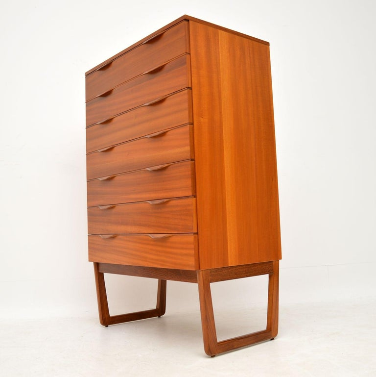 Mid-Century Modern 1960s Vintage Teak Chest of Drawers For Sale