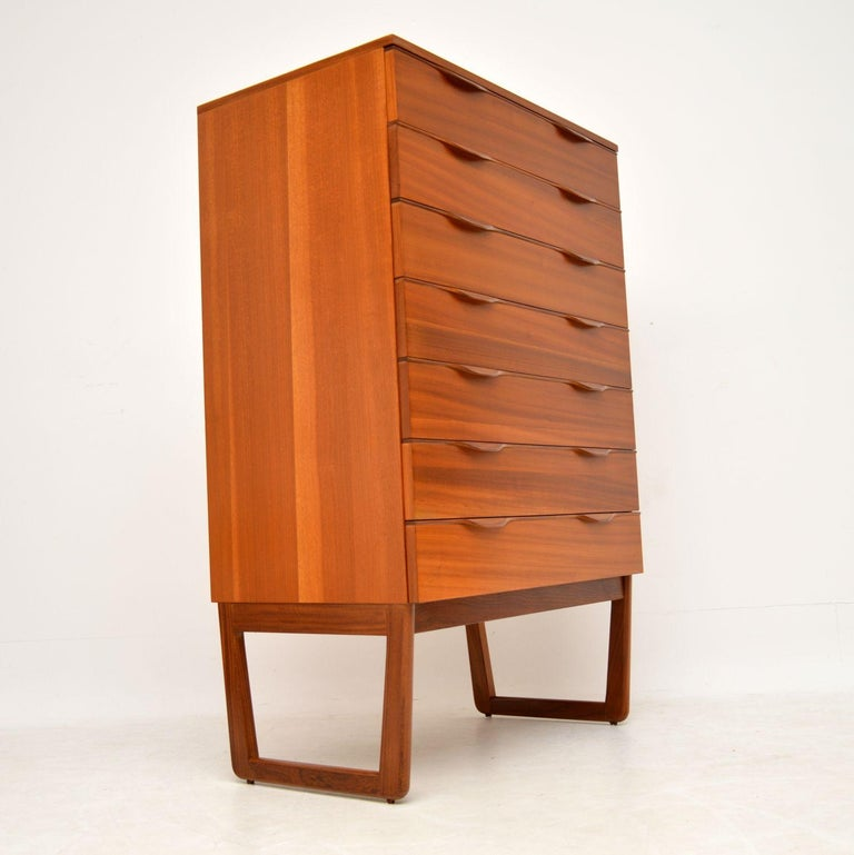 British 1960s Vintage Teak Chest of Drawers For Sale