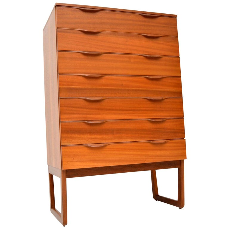 1960s Vintage Teak Chest of Drawers For Sale
