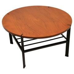 1960's Vintage Teak & Steel Coffee Table