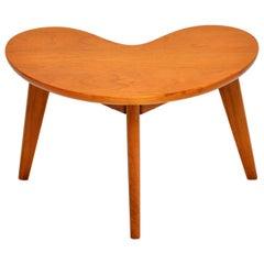 1960s Vintage Walnut Boomerang Side Table