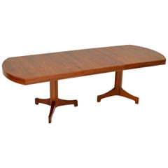 1960s Vintage Walnut Extending Dining Table by Robert Heritage