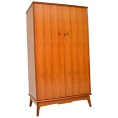 1960s Vintage Walnut Wardrobe by Alfred Cox