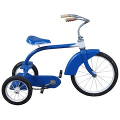 1960s Vintage Western Flyer Blue & White Childs Tricycle Pedal Bike Atomic