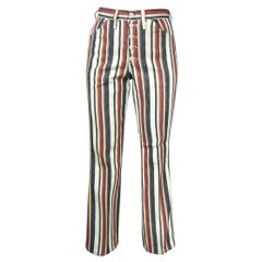 1960s Vintage Wrangler Jeans Hippie Striped button front, New Never Worn
