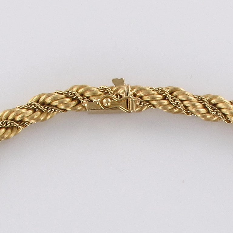1960s Vintage Yellow Gold Braid Necklace For Sale 4