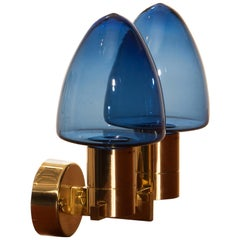 1960s, Wall Light Sconce in Brass by Hans-Agne Jakobsson for Markaryd, Sweden