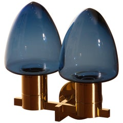 1960s, Wall Light / Sconce in Brass by Hans-Agne Jakobsson for Markaryd, Sweden