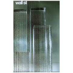 1960s Wall Street Art Poster by Tomoko Miho New York Skyscrapers