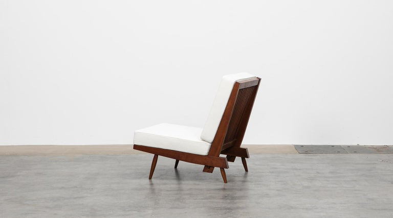1960s Walnut Lounge Chairs by George Nakashima For Sale 4