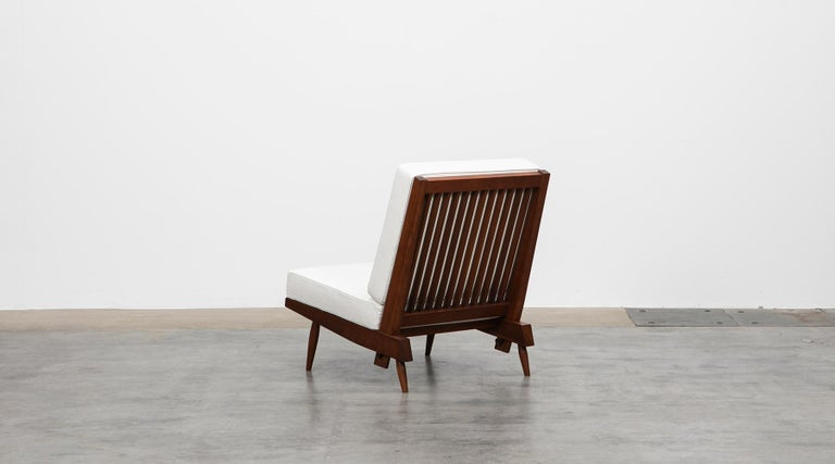 1960s Walnut Lounge Chairs by George Nakashima For Sale 5