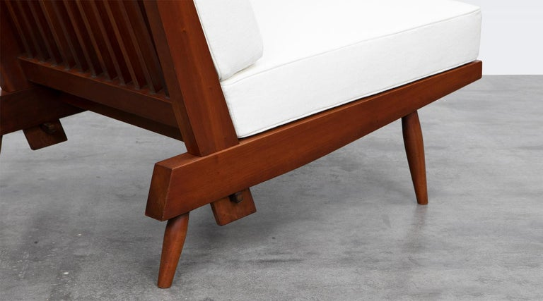 1960s Walnut Lounge Chairs by George Nakashima For Sale 8