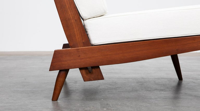 1960s Walnut Lounge Chairs by George Nakashima For Sale 9