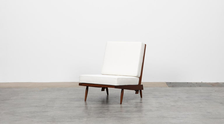 1960s Walnut Lounge Chairs by George Nakashima For Sale 1