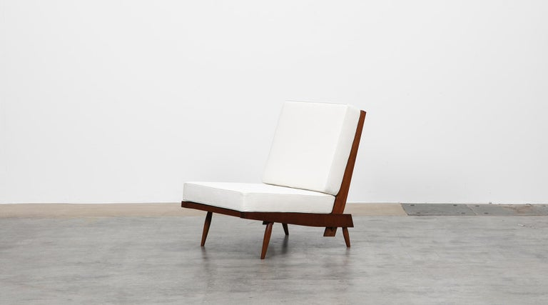 1960s Walnut Lounge Chairs by George Nakashima For Sale 2