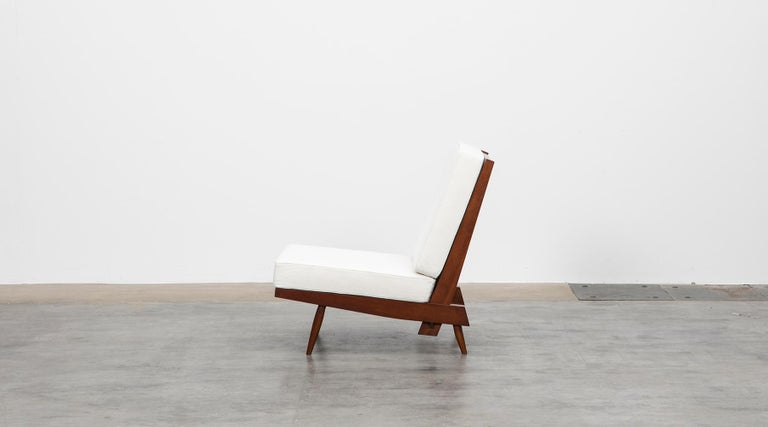 1960s Walnut Lounge Chairs by George Nakashima For Sale 3
