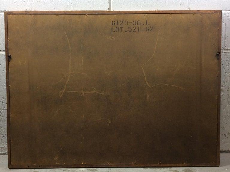 1960s Walnut Wood Framed Wall Mirror For Sale 2