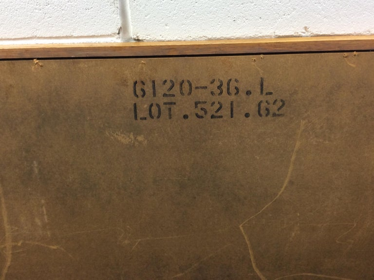 1960s Walnut Wood Framed Wall Mirror For Sale 3