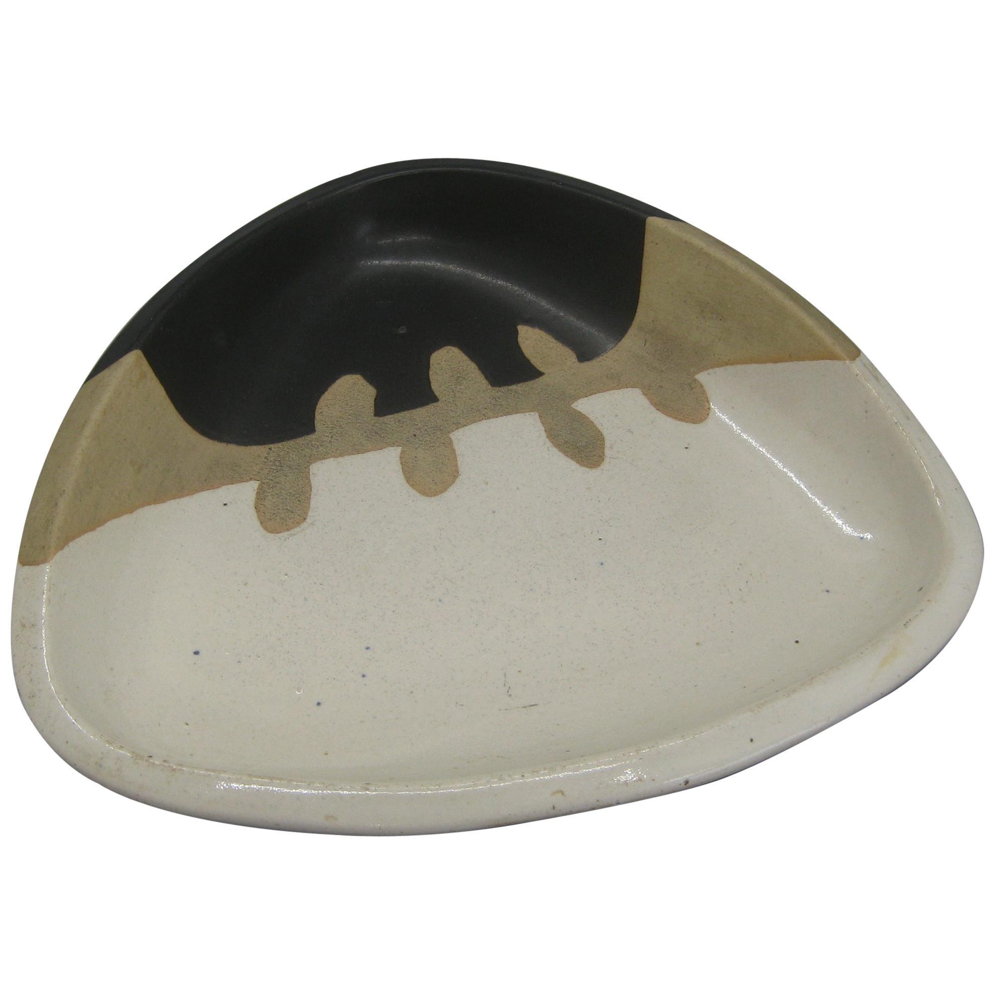 1960s Walter Dexter Studio Pottery Modernist Abstract Bowl Ceramic Arts Calgary