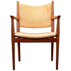 1960s Wegner Armchair in Oak by Johannes Hansen with Upholstery of Choice