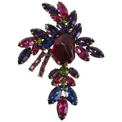 1960's Weiss Multicolored Statement Brooch
