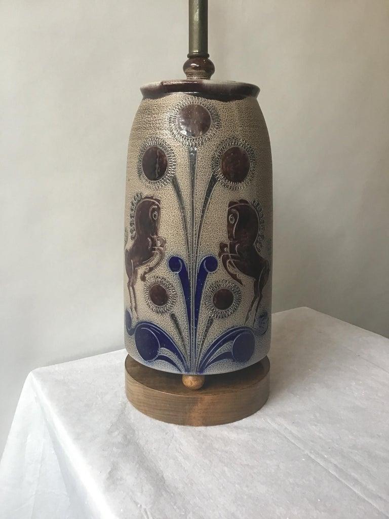 1960s West German Ceramic Horse Lamp For Sale 2