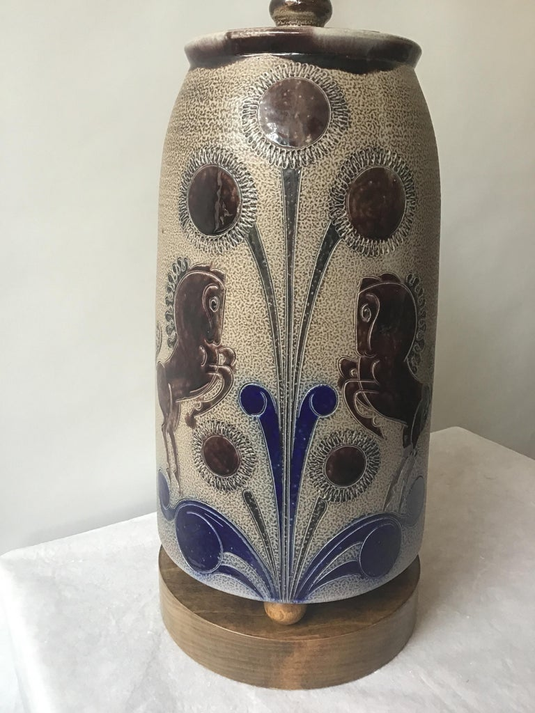 1960s West German Ceramic Horse Lamp For Sale 3