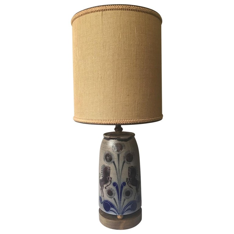 1960s West German Ceramic Horse Lamp For Sale