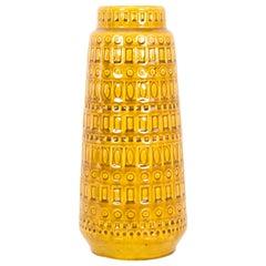 1960s West German Goldenrod Ceramic Vase