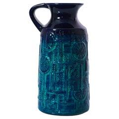 1960s West German Underwater Patterned Ceramic Vase