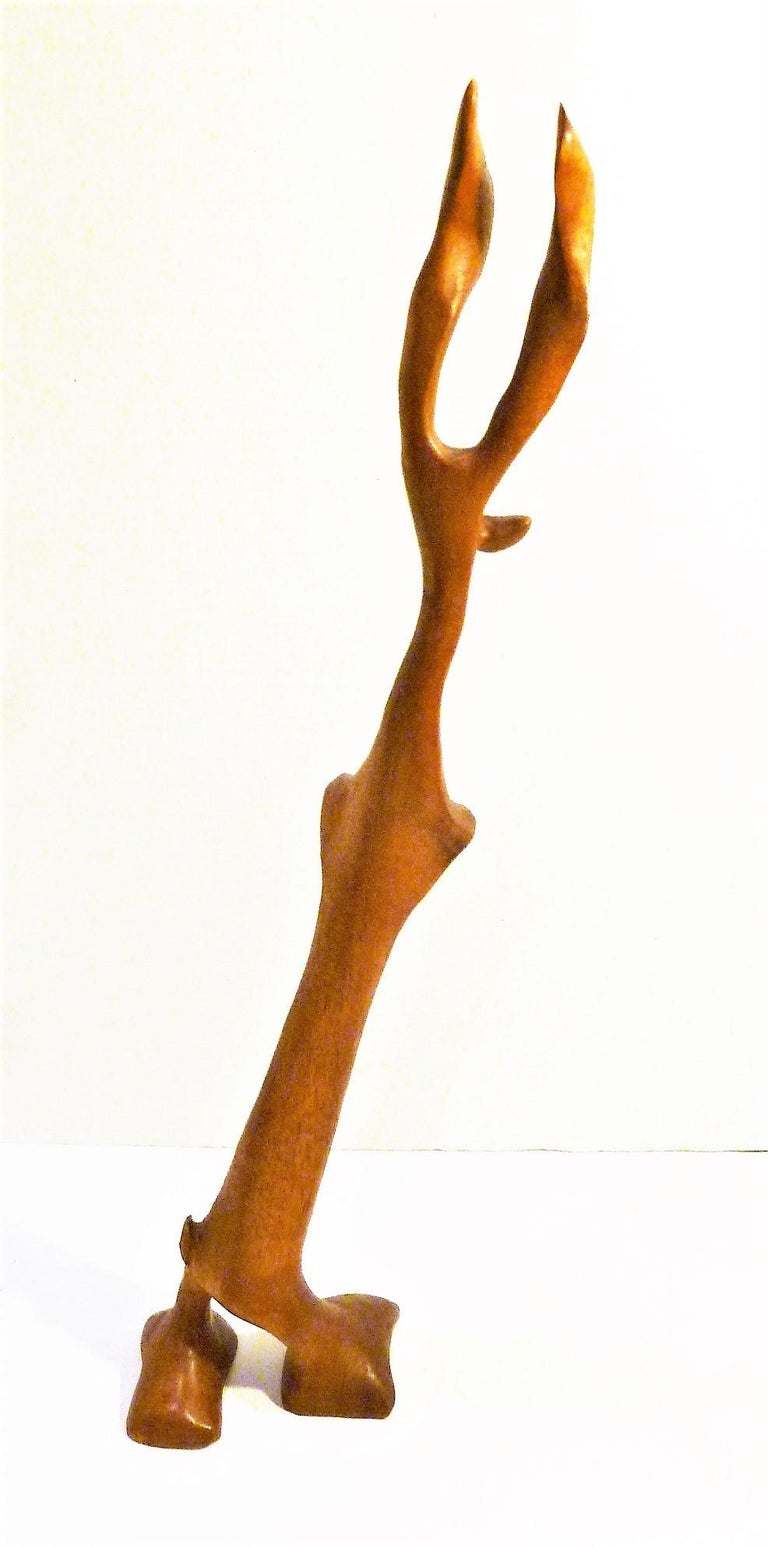 Scandinavian Modern 1960s Whimsical Carved Figure by Danish Wood Artist Knud Albert For Sale