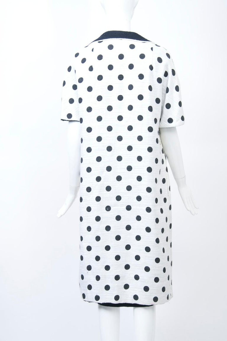 Women's 1960s White and Black Dress and Coat Ensemble For Sale