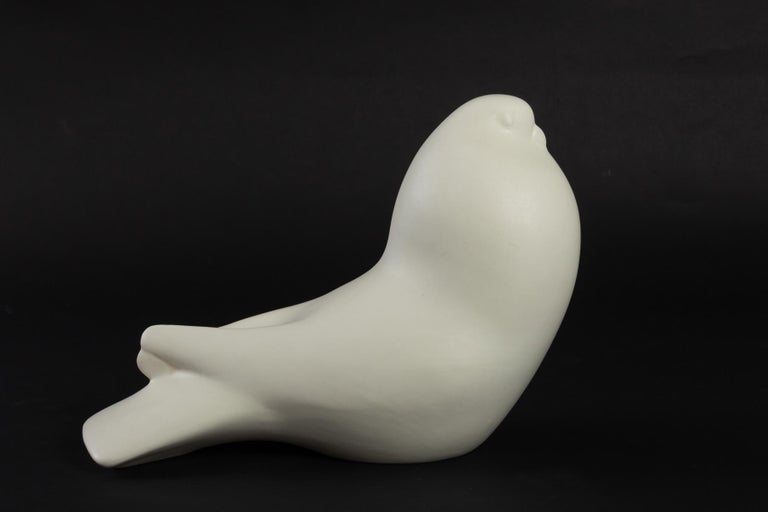 Charming white ceramic made by Zaccagnini, Italy in the 1960s.