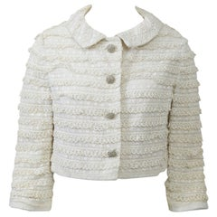 1960s White Lace Cropped Jacket