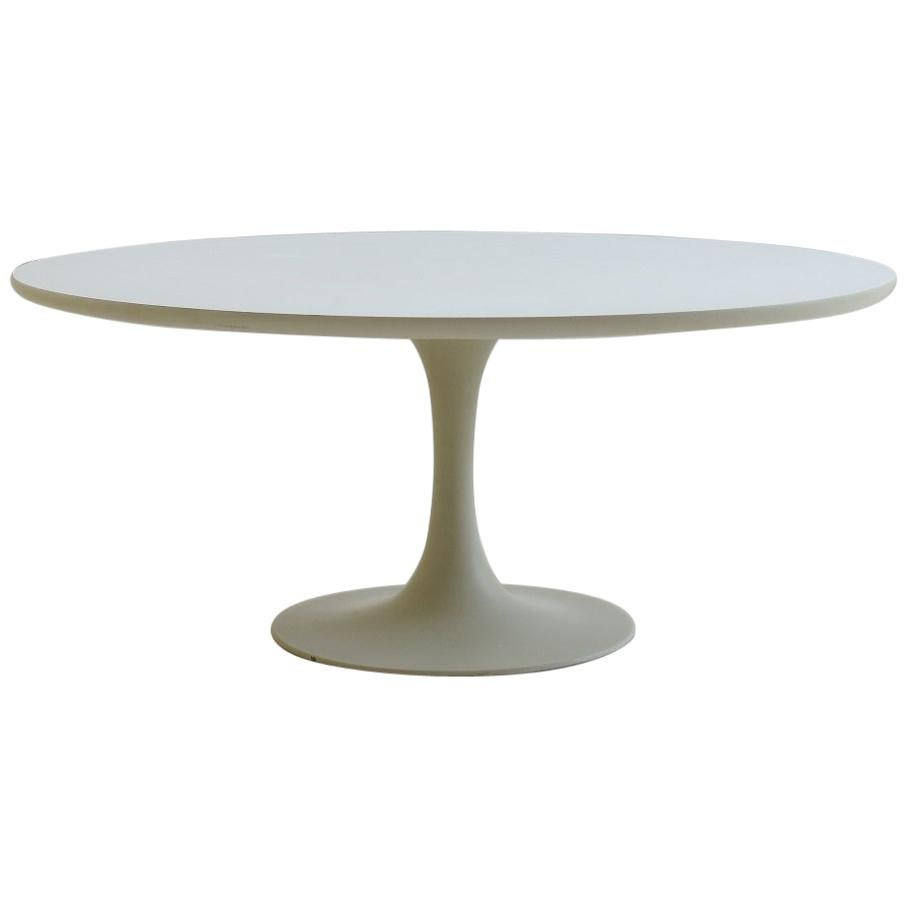 1960s White Tulip Coffee Table by Maurice Burke for Arkana A