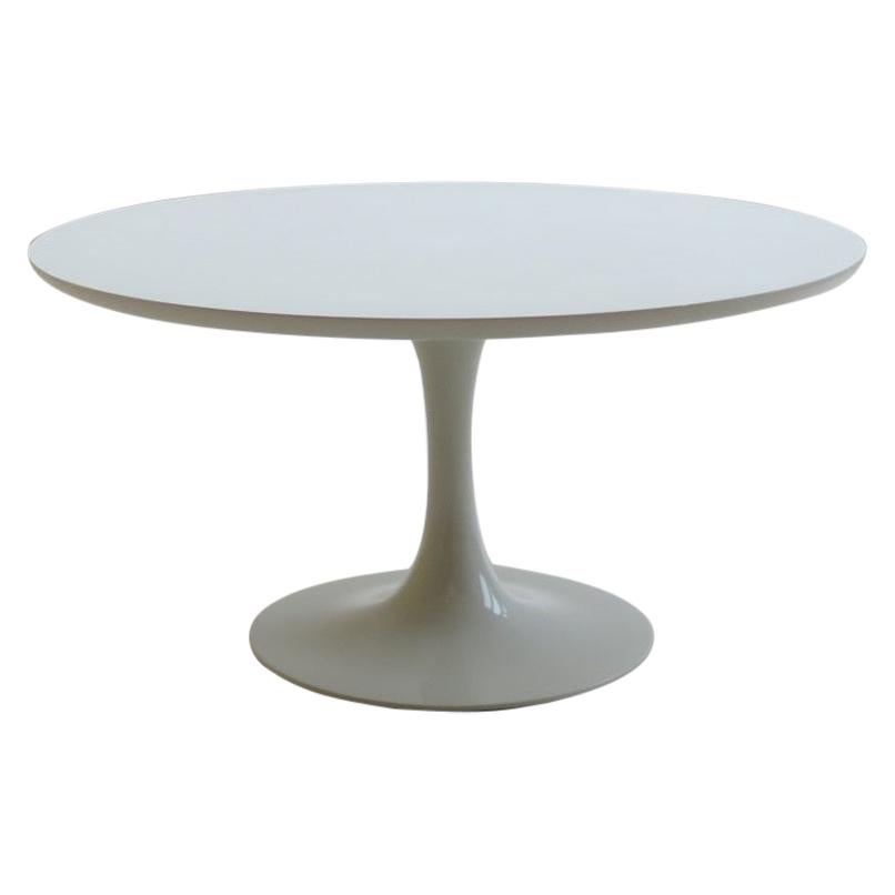 1960s White Tulip Coffee Table by Maurice Burke for Arkana B