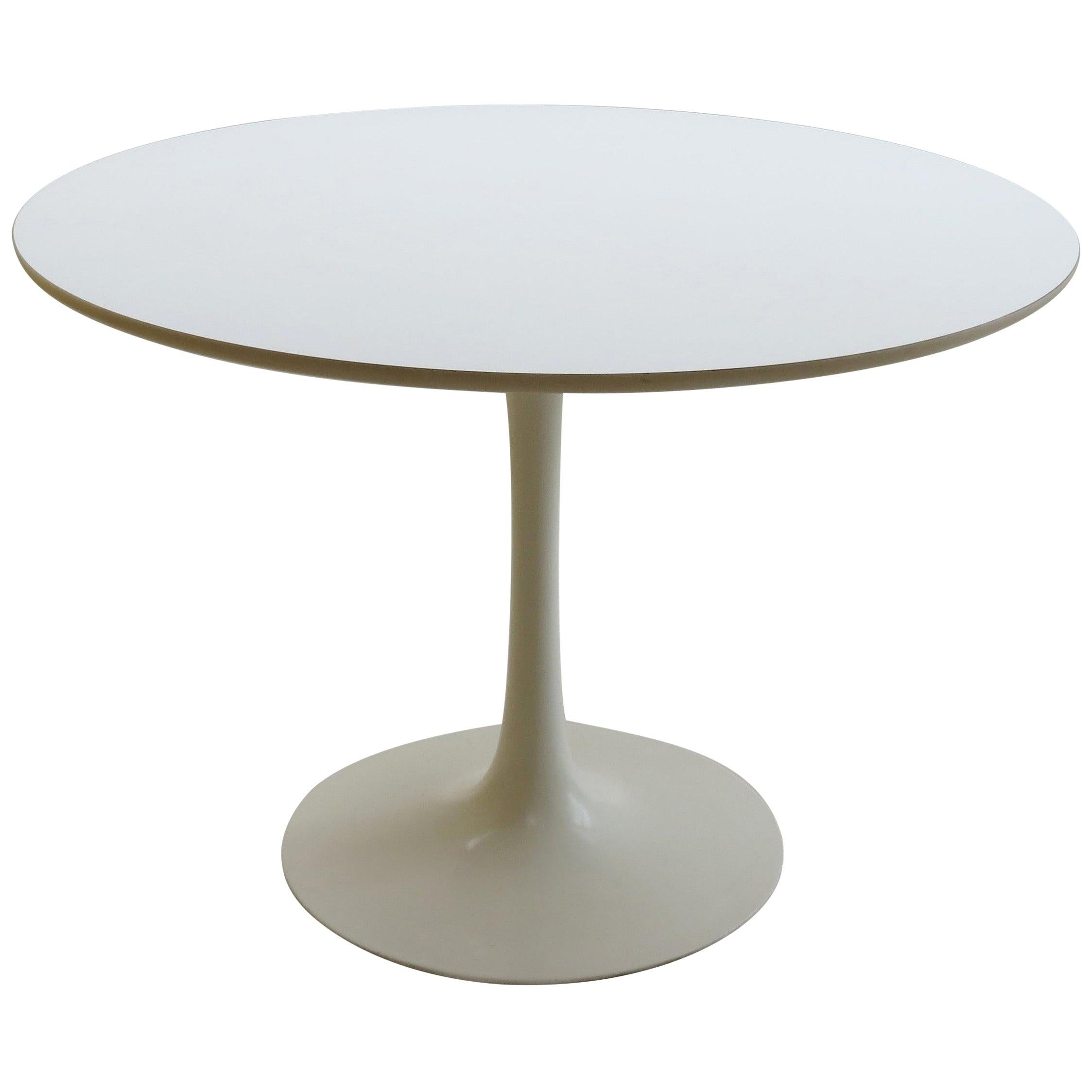 1960s White Tulip Dining Table by Maurice Burke for Arkana, UK