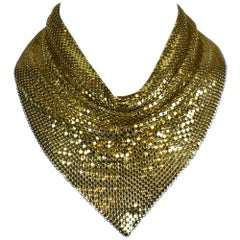 1960's Whiting & Davis Gold Mesh Scarf Necklace